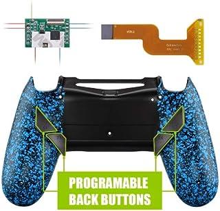 PS4 コントローラー用 リマッピング機能&背面ボタン付きバックシェル テクスチャードブルー【適合型式 CUH-ZCT2(JDM-040/050/055)】 [並行輸入品]