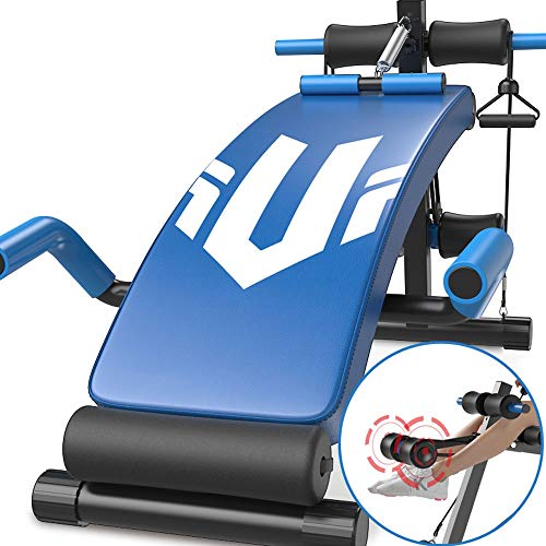 Banco de pesas actualizado, declive en forma de arco ajustable Banco de abdominales Pesa de gimnasia Banco de ejercicios para entrenamiento corporal Adecuación para inclinación Inclinación Ejercicio p