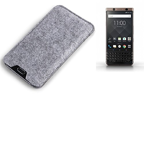 K-S-Trade® Filz Schutz Hülle Für BlackBerry KEYone Bronze Edition Schutzhülle Filztasche Filz Tasche Hülle Sleeve Handyhülle Filzhülle Grau