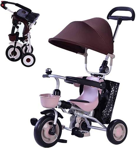 bienvenido a orden MYMGG Cochecito de bebé 3 en en en 1 con toldo Triciclo Plegable Triciclo para Niños Adecuado para Niños de 1 a 6 años  lo último