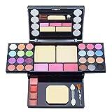 Paleta de Maquillaje Set Paleta de Sombras de Ojos, Juego de Maquillaje Kit de Maquillaje para Mujeres y Niñas Caja de Regalo Cosméticos