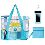 Best Beach Bags - Omnife Oversize Mesh Beach Bag (Blue) Review