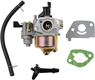 GOOFIT Carburador 19, PZ19 Minimoto de Filtro para GX120 GX160 GX168 GX200 5.5HP 6.5HP Generador Motor Pit Bike Scooter ATV Quad Plata