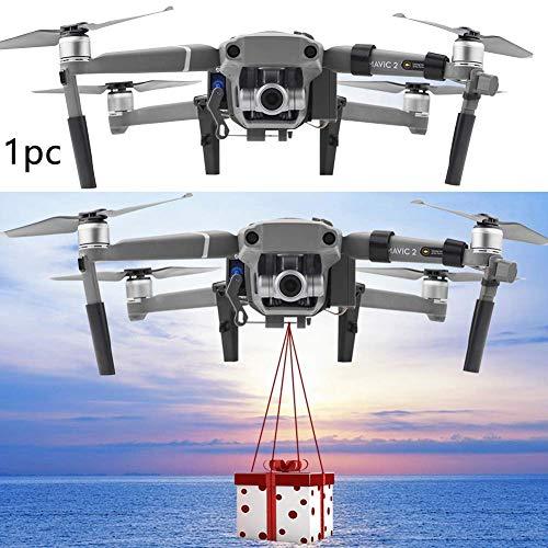 xiegons0 Drone Air-Dropping Lanciatore, Airdrop Rilascio Pesca Esca Matrimonio Proposta Dispositivo per DJI Mavic 2 PRO Zoom - Gray, Free Size