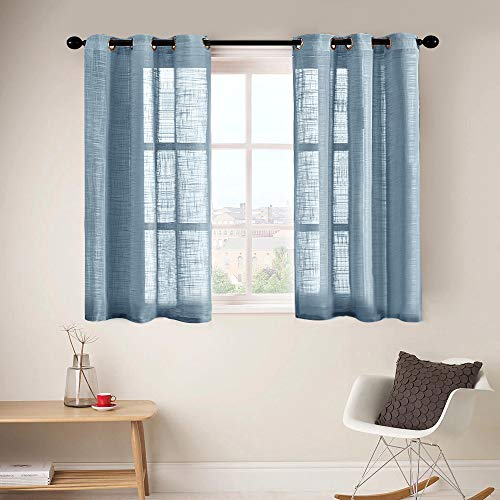 """powerful CUTEWIND Transparent bedroom curtain 54 """"Long sleeves, top layer made of linen mix, structured curtains…"""