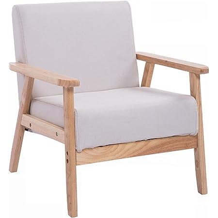 ソファ1人掛け アームチェア ローソファー ウッドアーム 座椅子 レトロモダンソファ フランネル(Gray)