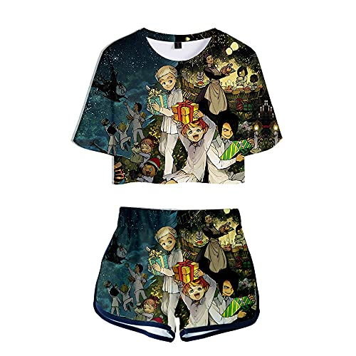 NLJ-lug The Promised Neverland Ropa Camisa De Cosplay Camiseta Pantalones Cortos Traje...