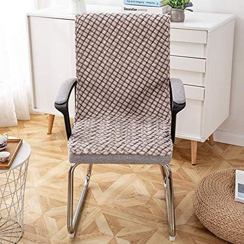 XHNXHN rutschfeste Dining Chair Pads Cover Set, Samt Long Seat Cush Integriertes siamesisches Schaukelstuhlkissen Indoor Outdoor Bankkissen A 40x135cm (16x53In)