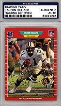Dalton Hilliard Signed 1989 Pro Set Card #269 New Orleans Saints - PSA/DNA Authentication - Autographed NFL Trading Cards