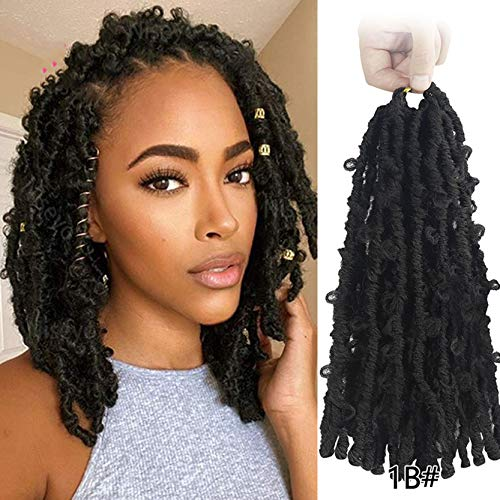 Locs Crochet Hair Synthetic Faux Locs Crochet Braids Pre looped Natural Messy Pre-twisted Braids