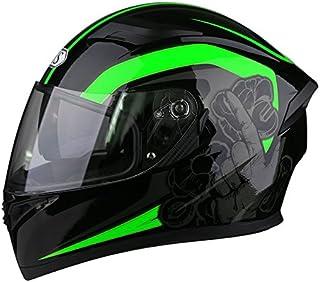 AIS(R1-607) 新品上品フルフェイスヘルメット 全6色 原付ジェット強化PCレンズ ダブルシールド付き 通気性良い 内装が取り外し洗濯可能 バイクヘルメット システム  オールシーズン メンズ レディース PSCマーク付き 安全認証 日焼け止め (2, M(頭囲54-57cm))