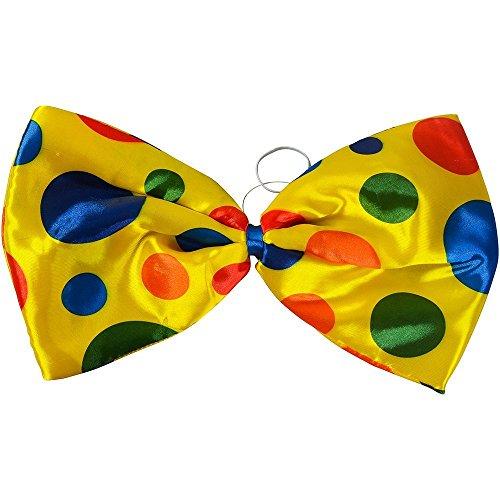 Clown Jumbo Bow Tie Accessory for Circus Fancy Dress Tie Bow Tie Jumbo Polka Dot