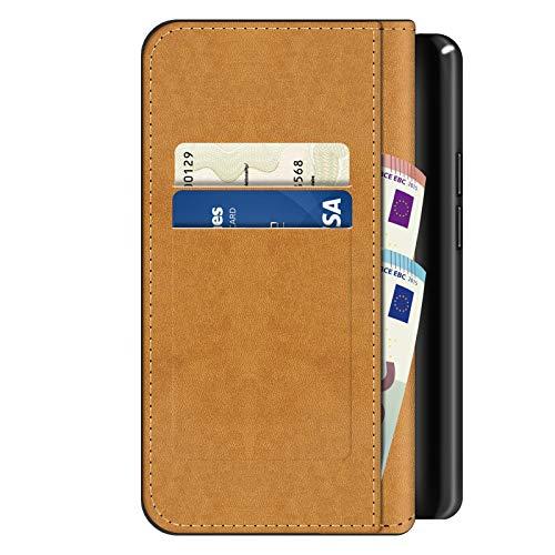 Conie BW3067 Basic Wallet Kompatibel mit Honor 5X, Booklet PU Leder Hülle Tasche mit Kartenfächer und Aufstellfunktion für Honor 5X Case Schwarz - 5