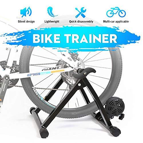 YourBooy Soporte de Bicicleta magnética de 7 velocidades, Bicicleta Turbo Trainer Bicicleta Trainer Ejercicio Fitness Marco estacionario para Bicicletas de montaña y Carretera,Negro