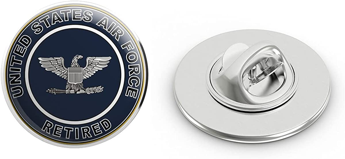 US Air Force Retired Colonel Military Veteran USA Pride Served Gift Metal 0.75
