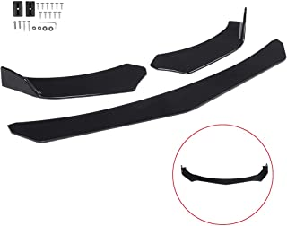 Zeeos Black Universal Front Bumper Lip Chin Spoiler ABS Front Bumper Lip Sopiler Wing Body Fits For AUDI,Ford,BMW,HONDA,Chevrolet,Toyota,Civic,Car