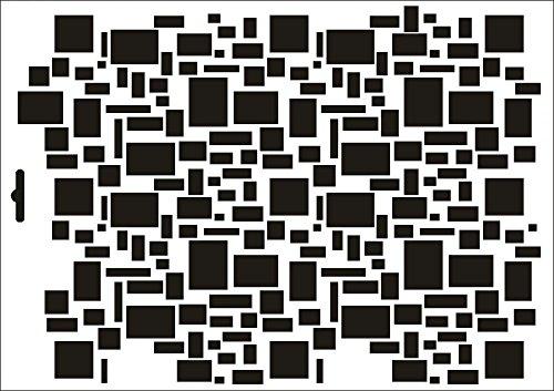 UMR-Design W-406 Quads Wand / Textilschablone Grösse A3