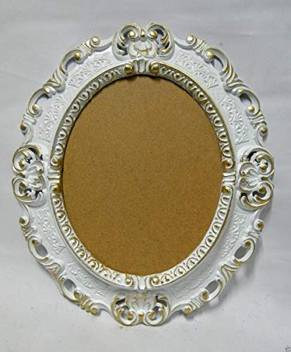 Barok fotolijst ovaal wit-goud antiek 3045 fotolijst 45X37 spiegellijst nieuw