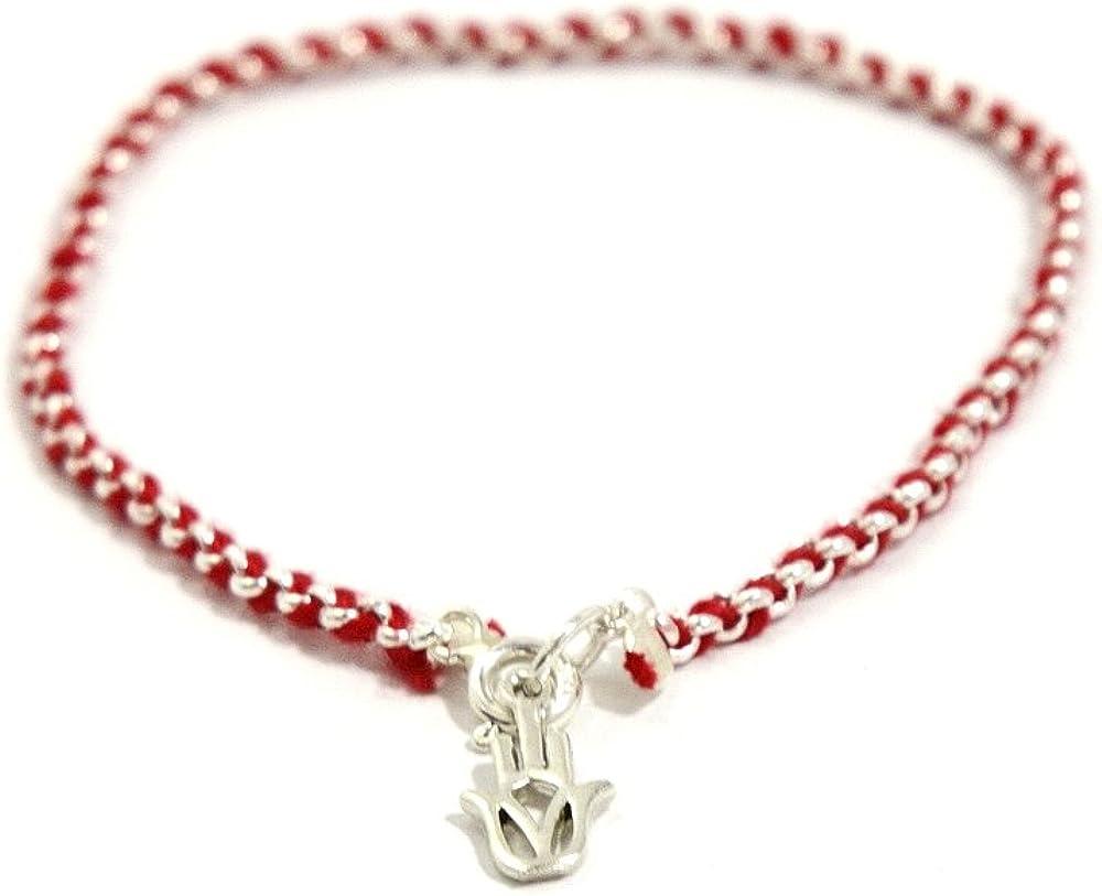 Protection Evil Eye Bracelet - Lucky Hamsa Hand Charm - 7 Inch S