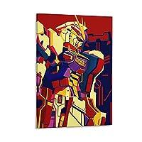 アニメガンダムポップアートキャンバスポスター寝室の装飾スポーツ風景オフィスルームの装飾ギフトキャンバスポスター壁アートの装飾リビングルームの寝室の装飾のための絵画の印刷 20x30inch(50x75cm)