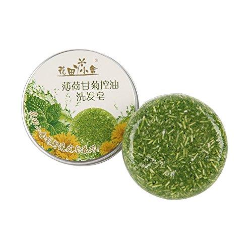 Barre de shampoing aux huiles essentielles végétales pour cheveux gras Barre de shampoing parfumée au shampooing cheveux - Barème de menthe