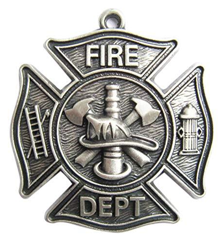 JEAN'S FRIEND New Vintage Silver Plated Firemen Firefighter Fire Dept Charm Pendant Anhänger