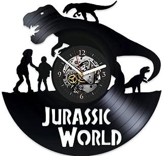 Jurassic Park Xmas Gift, Jurassic Park Vinyl Clock, Jurassic Park New Year Gift, Wall Clock Large, Gift Idea For Man, Gift Idea For Kids, Animals, Vintage Vinyl Record, Jurassic Park Wall Clock Modern