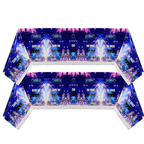 """Paquete de 2 Favores de la fiesta de los videojuegos - BESLIME fuentes para la fiesta Decoraciones de cumpleaños con fiesta, mantel 70""""X42"""", regalos perfectos para niños"""
