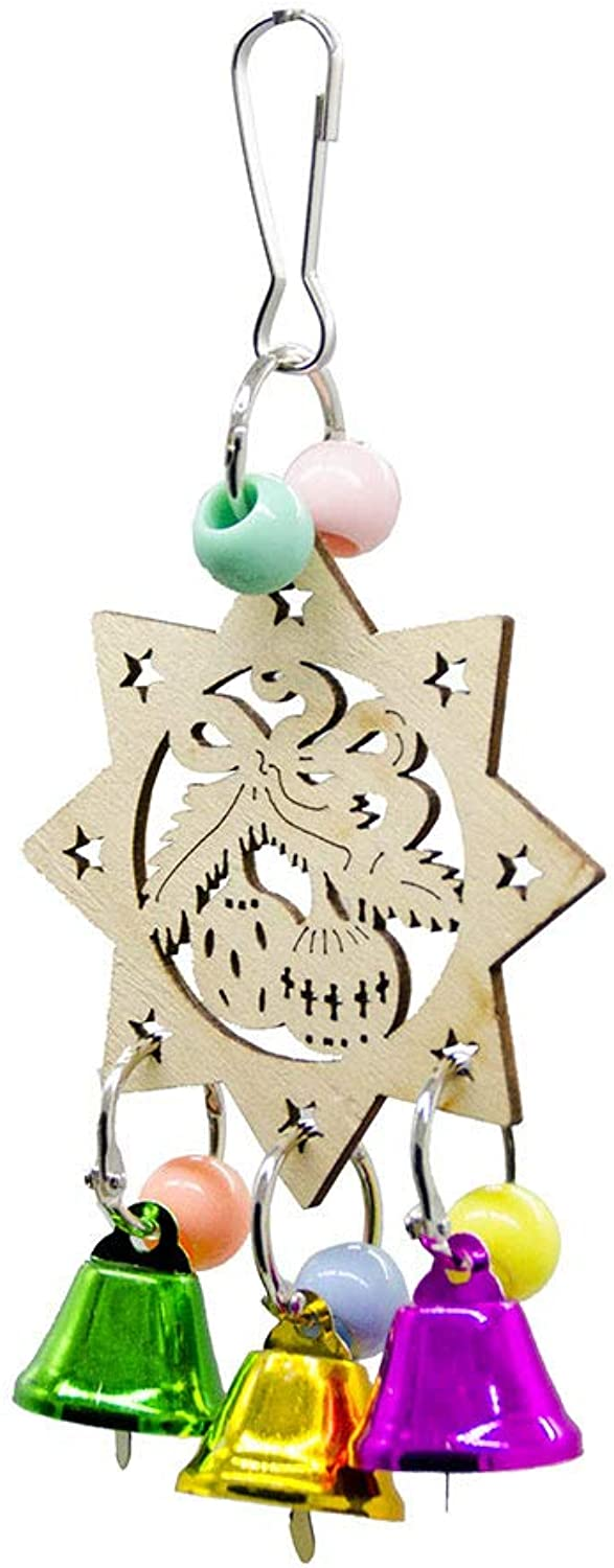 Pet Online Bird Toy Star Bell Parred Toy Birdcage Holiday Decoration