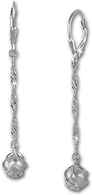 SilberDream Boucles d'oreilles - boucles d'oreilles perle blanc - argent sterling 925 pour femme - SDO566W