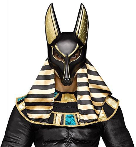 shoperama Ägyptischer Gott der Toten Anubis Maske König Ägypter Totengott Mythologie Hund Schakal Gottheit Halloween