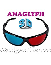 Gadget Hero's 3D Plastic Ana-Glyph Glasses (Red/Blue)