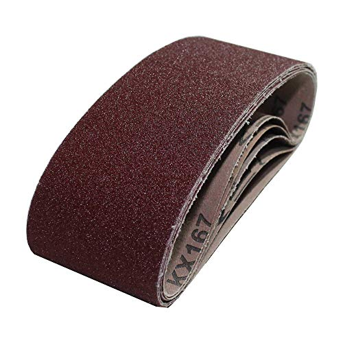 Gewebe-Schleifbänder │ 10 Stück │ 75 x 533 mm │ Korn 40 │ für Bandschleifer │ Schleifpapier │ Schleifblätter