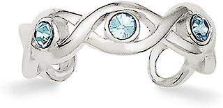 Diamond2Deal - Anello da piede in argento Sterling con cristalli Stellux