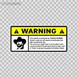 Stickers Hobby Vinyl Decal Carlos Ray Chuck Norris Warning Protection Hobby Decor 12 X 5.66 in.