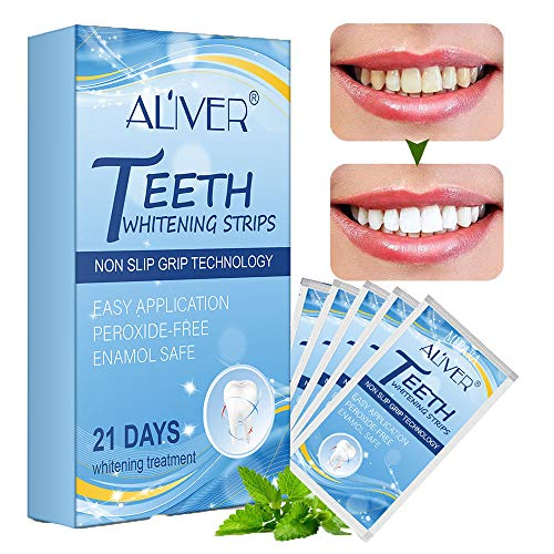 Teeth Whitening Strips, Professional Teeth Bleaching Strips Teeth Whitening Kit Stain Removal, Rapid White Teeth&Fast Teeth Whitening Result to Remove Tough Stains, Safe and Effective Mint Flavor