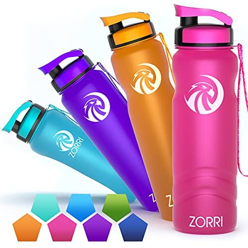 Sports Water Bottle 1000ml/800ml/600ml,Leak Proof BPA Free...