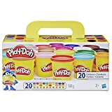 Play-Doh, color surtido, Pack 20 Botes (Hasbro A7924EUC)