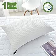 SORMAG Adjustable Shredded Memory Foam Pillows for Sleeping, Bamboo Cooling Bed Pillows Neck Support for Back, Stomach, Side Sleepers