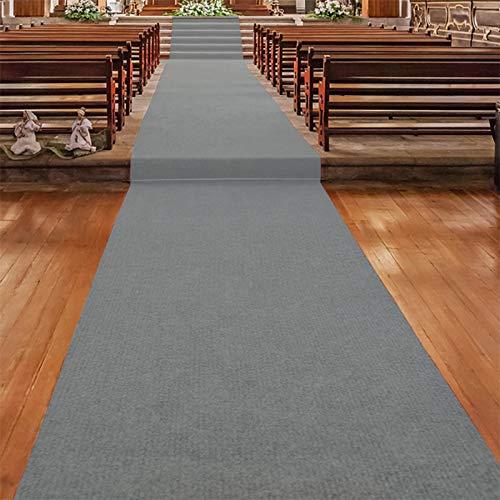Floordirekt Roter Teppichläufer   Hochzeitsläufer   Hochzeitsteppich   Gangläufer   Messeteppich   VIP Eventteppich   Schwer entflammbar   Viele Farben & Größen (100 x 100 cm, Hellgrau 730)