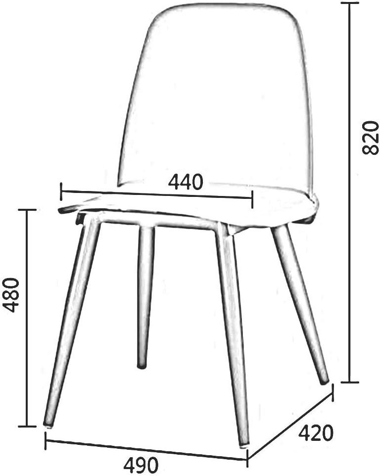 DALL Chaise De Salle À Manger Nordique Moderne Chaise De Dossier Jambes en Métal Chaise en Plastique Le Salon Bureau Salle De Réunion 49x42x82cm (Color : Blue 2) Blue 2