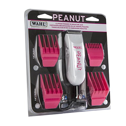 Wahl Professional Classic Hot Pink Peanut Hair and Beard Clipper Trimmer with a Powerful Rotary Motor for Professional Barbers and Stylists - Model 8685-1701