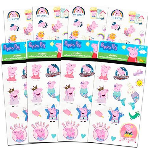 Peppa Pig Stickers Party Favors Set ~ Bundle Includes Over 100 Peppa Pig Stickers, 8 Sticker Sheets (Peppa Pig Party Supplies)