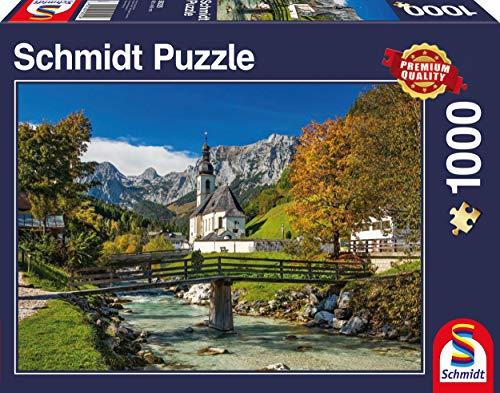 Schmidt Spiele 58225 58225-Reiteralpe Ramsau, 1000 Teile Puzzle, bunt