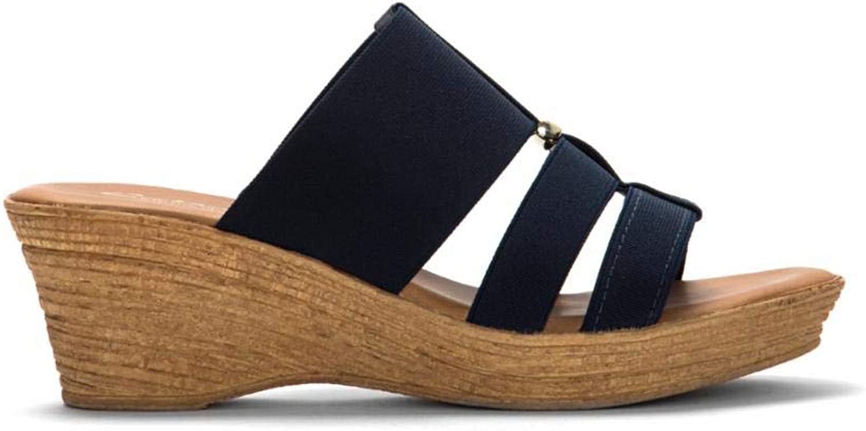 Italian shoesmakers Women's 5467D8 bluee M