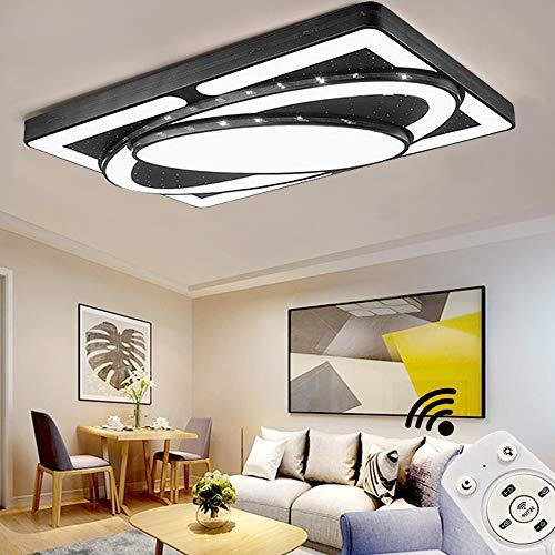 JINPIKER LED Deckenleuchte 78W Dimmbar Deckenleuchten Raumschiff Panel LED Deckenlampe Wohnzimmer Schlafzimmer Energieeinsparung Innen-Beleuchtung