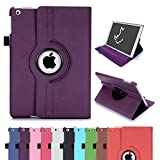 Rhino Cases iPad Air 1 Case 1st Edition (NOT for iPad Air 2), PU Leather 360 Rotating Smart Cover Stand with Strap and Auto Wake/Sleep,