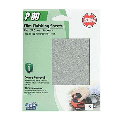 "4.5"" x 5Aluminum Oxide Sanding Sheets 80 Grit 5 Pack - Shopsmith 12311"