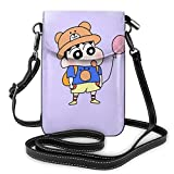 AOOEDM Womens Crossbody Bags - Cute Crayon Shin-chan Small Cell Phone Purse Wallet With Credit Card Slots