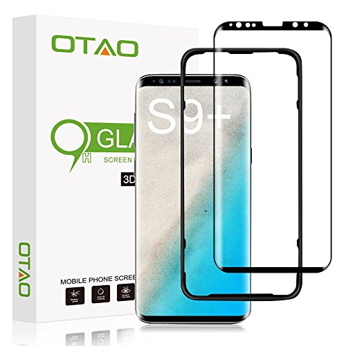 OTAO Galaxy S9 Plus Screen Protector Tempered Glass, [Update Version] 3D Curved Dot Matrix...